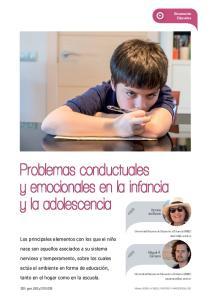 Problemas conductuales y emocionales en la infancia y la adolescencia
