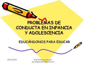 PROBLEMAS DE CONDUCTA EN INFANCIA Y ADOLESCENCIA