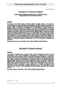 PROBLEMAS DE FITOTOXICIDAD EN COMPOST