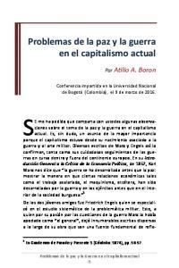 Problemas de la paz y la guerra en el capitalismo actual
