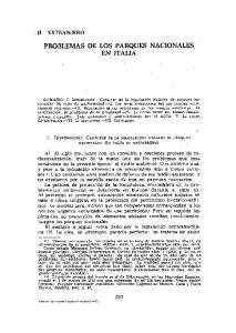 PROBLEMAS DE LOS PARQUES NACIONALES EN ITALIA