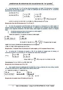 problemas de sistemas de ecuaciones de 1er grado