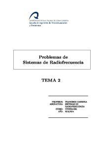 Problemas de Sistemas de Radiofrecuencia TEMA 2