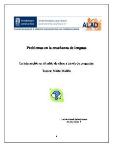 Problemas en la enseñanza de lenguas