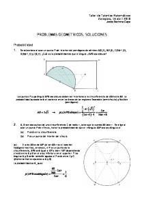 PROBLEMAS GEOMETRICOS. SOLUCIONES