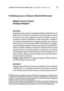 Problemas para el desarrollo del Mercosur