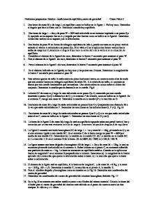 Problemas propuestos: Estatica condiciones de equilibrio,centro de gravedad