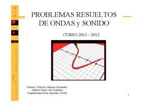 PROBLEMAS RESUELTOS DE ONDAS y SONIDO