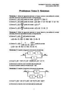 Problemas Tema 2: Sistemas