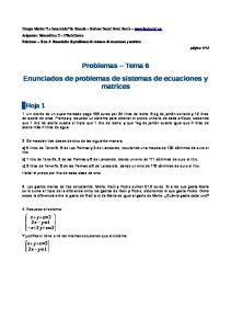 Problemas Tema 6 Enunciados de problemas de sistemas de ecuaciones y matrices