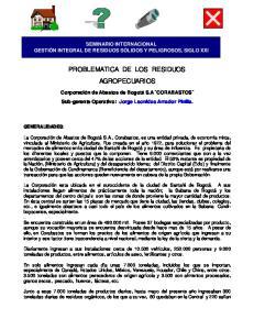 PROBLEMATICA DE LOS RESIDUOS AGROPECUARIOS