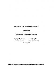 Problems and Solutions Manual 1