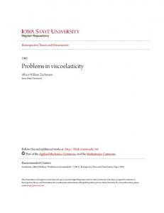 Problems in viscoelasticity