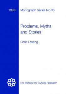 Problems, Myths and Stories