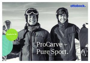 ProCarve Pure Sport. ProCarve Pure Sport Ottobock 1