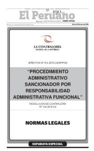 PROCEDIMIENTO ADMINISTRATIVO SANCIONADOR POR RESPONSABILIDAD ADMINISTRATIVA FUNCIONAL