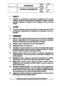 PROCEDIMIENTO ATENCION DE REQUERIMIENTOS