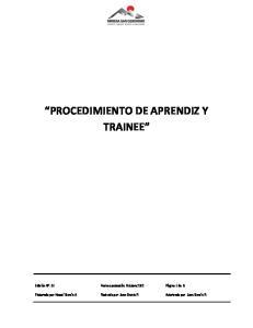 PROCEDIMIENTO DE APRENDIZ Y TRAINEE