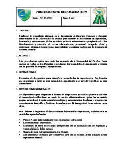 PROCEDIMIENTO DE CAPACITACION