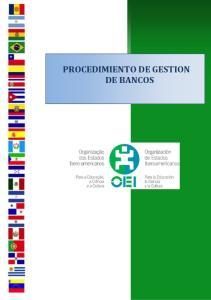 PROCEDIMIENTO DE GESTION DE BANCOS