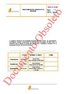PROCEDIMIENTO DE PAGOS DEPTO. NACIONAL