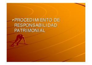 PROCEDIMIENTO DE RESPONSABILIDAD PATRIMONIAL