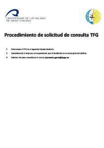Procedimiento de solicitud de consulta TFG