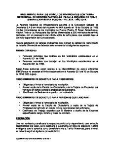 PROCEDIMIENTO DE SOLICITUD PARA PERSONAS QUE LABORAN: