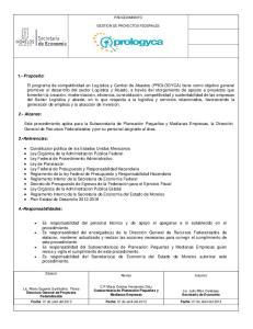 PROCEDIMIENTO GESTION DE PROYECTOS FEDERALES