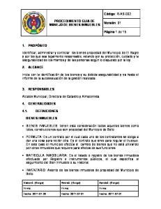 PROCEDIMIENTO GUIA DE MANEJO DE BIENES INMUEBLES