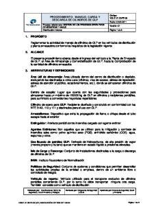 PROCEDIMIENTO: MANEJO, CARGA Y DESCARGA DE CILINDROS DE GLP