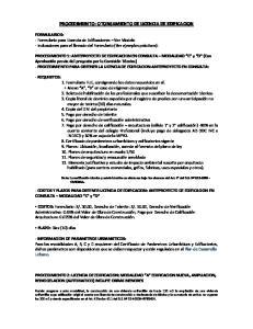 PROCEDIMIENTO: OTORGAMIENTO DE LICENCIA DE EDIFICACION