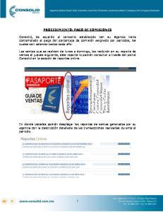PROCEDIMIENTO: PAGO DE COMISIONES