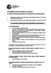 PROCEDIMIENTO PARA EL ESTUDIO DE LA SOLICITUD: