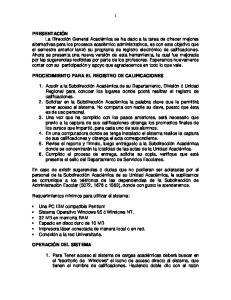 PROCEDIMIENTO PARA EL REGISTRO DE CALIFICACIONES