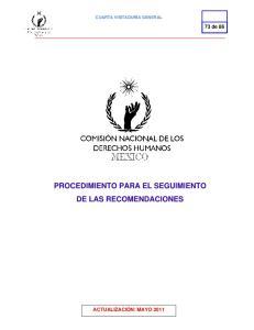 PROCEDIMIENTO PARA EL SEGUIMIENTO DE LAS RECOMENDACIONES