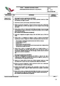 PROCEDIMIENTO PARA PAGOS A TERCEROS UNIDAD ADMINISTRATIVA: SUBGERENCIA DE REMUNERACIONES. RESPONSABLE No. ACTIVIDAD FORMA O DOCUMENTO