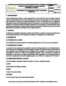 PROCEDIMIENTO RELACIONADO: HIGIENE Y SEGURIDAD INDUSTRIAL