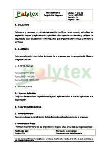 Procedimiento Requisitos Legales