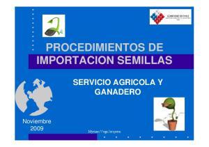 PROCEDIMIENTOS DE IMPORTACION SEMILLAS