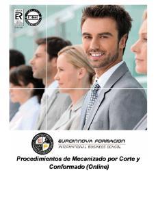 Procedimientos de Mecanizado por Corte y Conformado (Online)