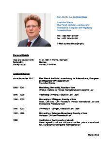 Procedural Law. and Regulatory Procedural Law Executive Director