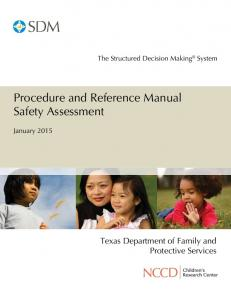 Procedure and Reference Manual Safety Assessment