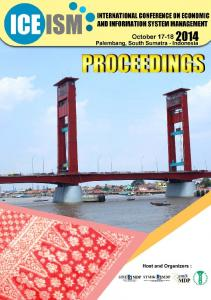 PROCEEDINGS. International Conference on Economic and Information System Management