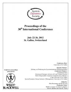 Proceedings of the 30 th International Conference