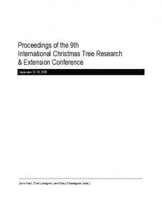 Proceedings of the 9th International Christmas Tree Research & Extension Conference
