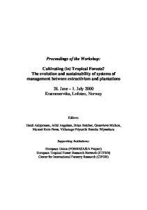 Proceedings of the Workshop: