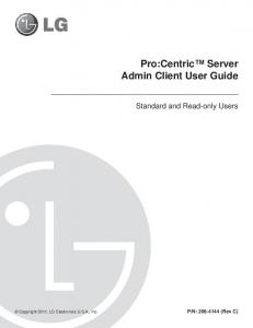 Pro:Centric Server Admin Client User Guide