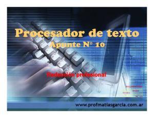 Procesador de texto Apunte N 10