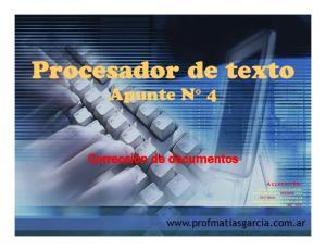 Procesador de texto Apunte N 4